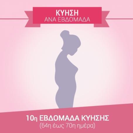 10η εβδομάδα εγκυμοσύνης (64η…